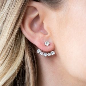 Picture of Jeweled Jubilee - White Earrings